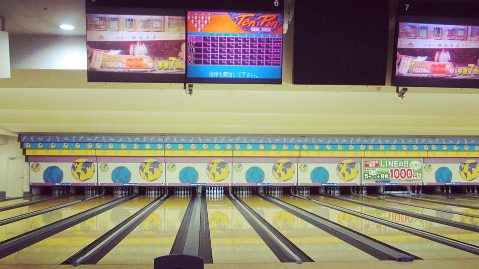 Indoors  No People Night Japan Photography Zenfone2 Bowling Bowling Time Lovely Front View