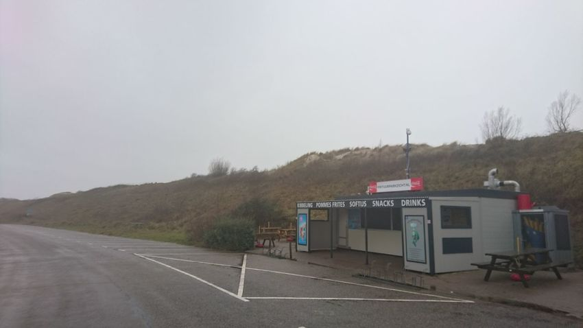 Deserted fast food place Food Restaurant Business Fast Food Sea Dunes Water Zeeland  Outdoors