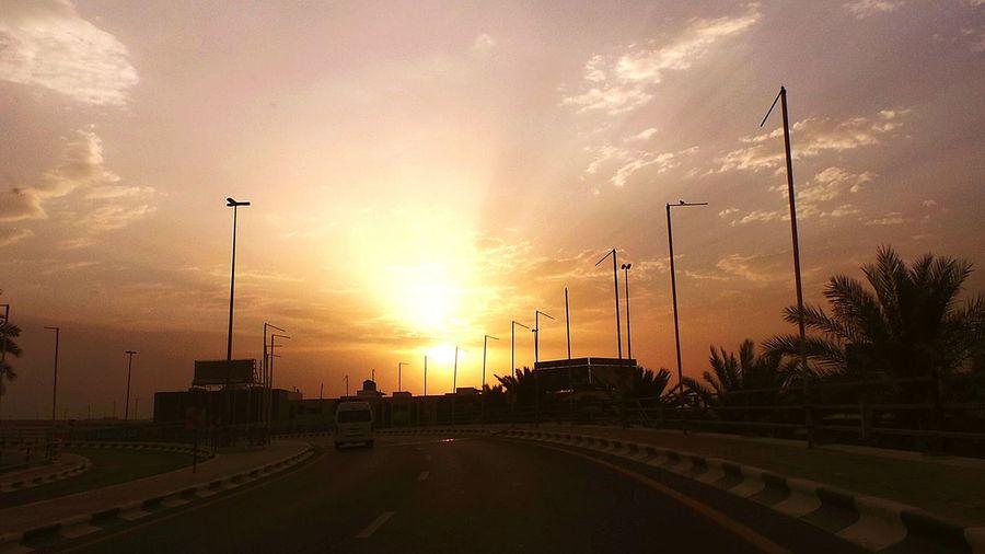 Sundown! Cloud - Sky Dramatic Sky Sunset Outdoors Day City Sky Scenics Beauty In Nature Mobiling Road Bridge