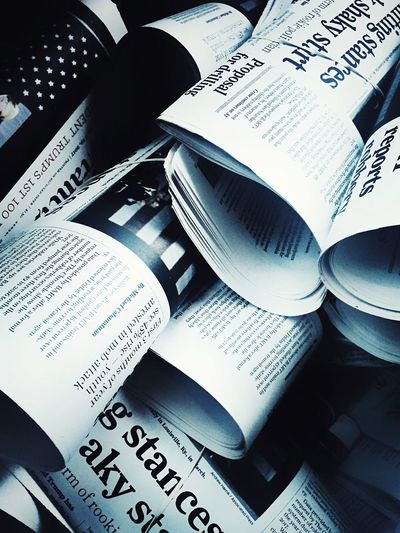 Newspapers News Papers Black And White Contrast Information EyeEm Best Shots