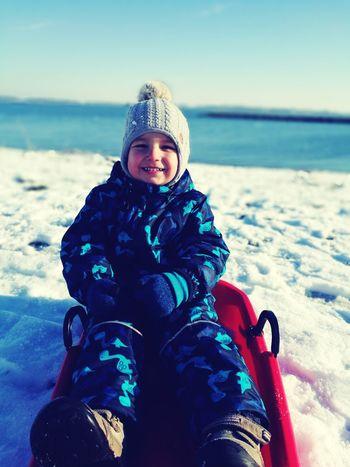 Boy, kids, snow, winter, water