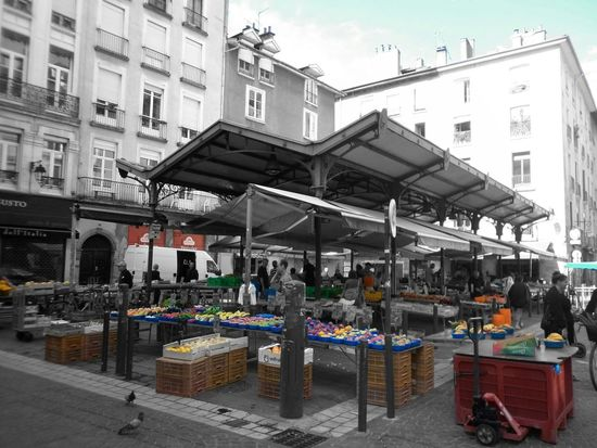 Grenoble France Place Aux Herbes Blackandwhite Urban Escape Cityscapes City Sound Of Life I Love My City