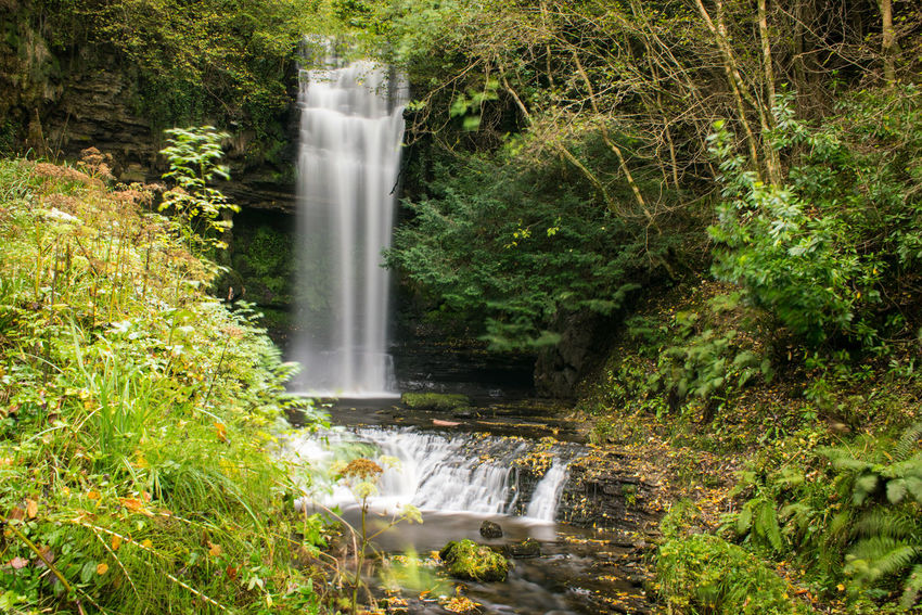 Glencar Waterfall Water Waterfall Motion Beauty In Nature Long Exposure Nature Scenics Outdoors No People Green Color Tree Day Spraying Power In Nature Autumn Ireland Ireland Landscapes Waterfalls