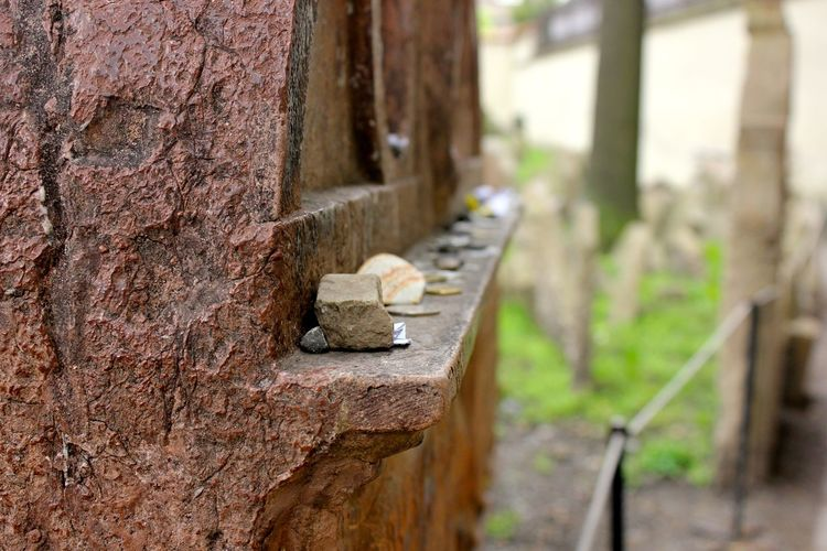 gifts for the dead in old jewish cemetery Memorial Old Jewish Quarter Tokens Architecture Built Structure Close-up Day Focus On Foreground Gifts Nature No People Old Jewish Cemetery Outdoors Wood - Material Colour Your Horizn