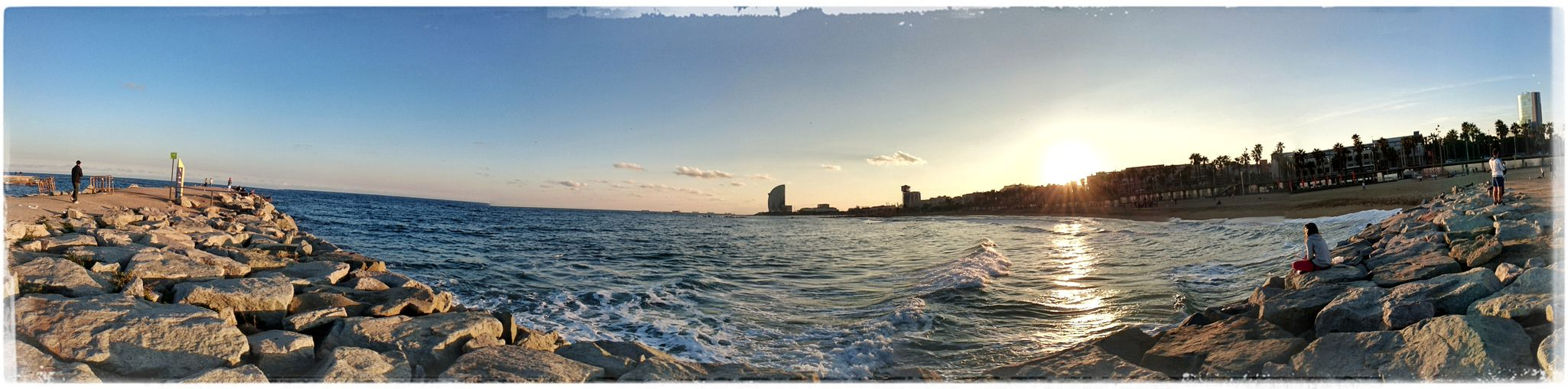 Sundowner Sunset_collection Sunset Sunshineaddicted Barceloneta Barceloneta Beach Barcelona Barcelonalove