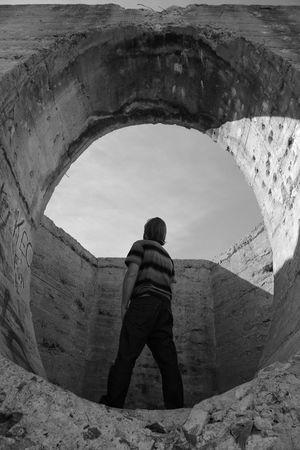 Ironwood National Monument Selfie Shapes Gun Range Black And White Photography