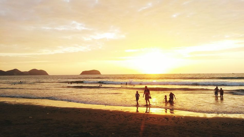 Beach Sea Beatiful Nature Ptocayo Ecuador Manabi Ecuador