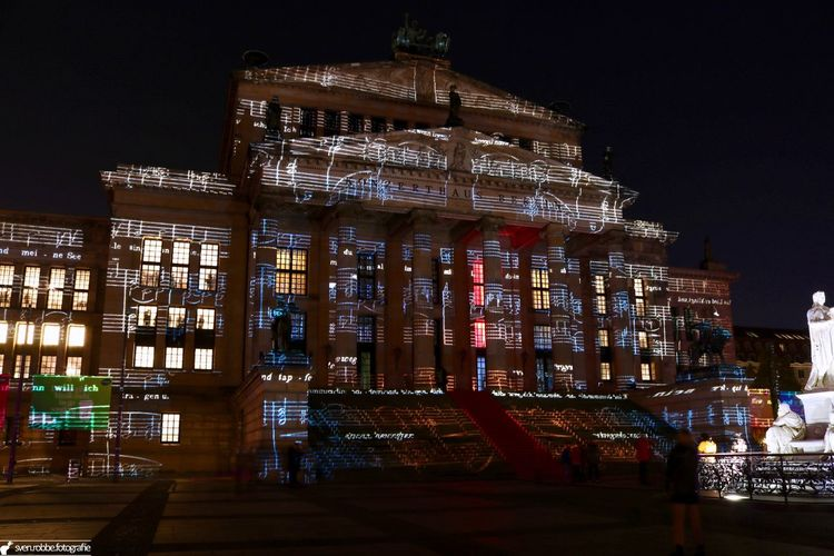 Architecture City City Life Famous Place History Illuminated Konzerthaus Berlin Music Night Notes Outdoors