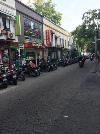 Motorcycle Maledives Check This Out No Cars  Taking Photos New Place Streetphotography Parking