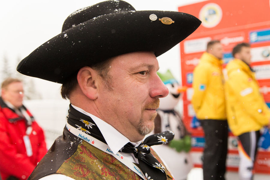 man with folk costume of Thuringia Close-up Focus On Foreground Folk Clothing Folk Culture Headshot Outdoors Snow Thuringia