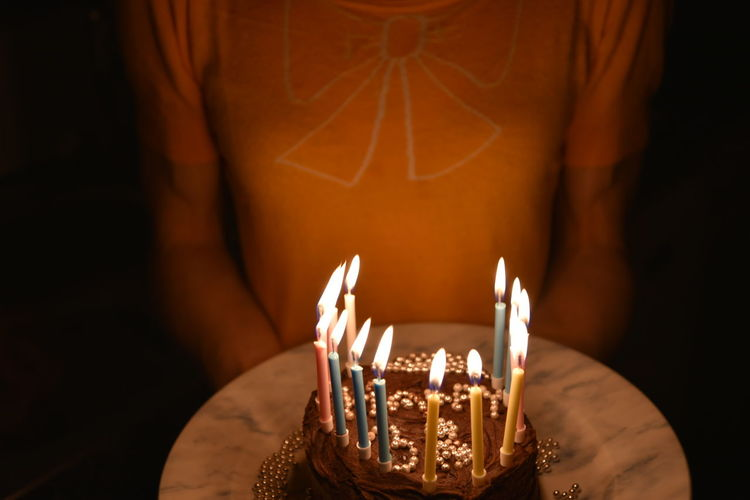 Birthday Cake Celebration Birthday Birthday Cake Birthday Candles Cake Celebration Dark Fire - Natural Phenomenon Focus On Foreground Real People Temptation