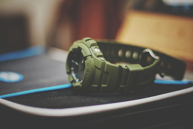 Technology Close-up No People Photography Themes Day Eyeem Philippines The Week On EyeEm Wrist Watch G-Shock ⌚ Time Army Green