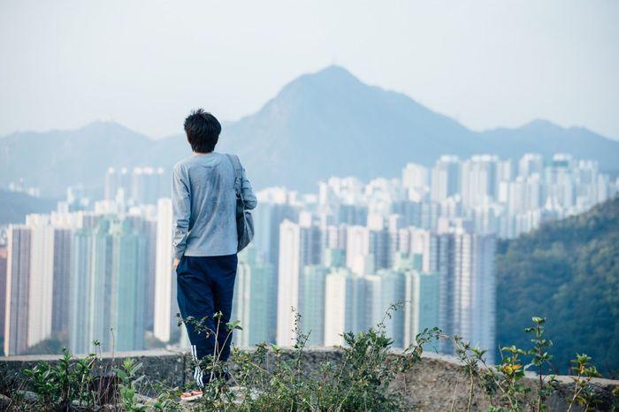 Stay strong. One Person Standing Alone Devilspeak Hongkong Photos EyeEmNewHere EyeEm Nature Lover Filmcamera Filmphotography Kodak Portra Kodak Kodakfilm Kodak Portra 400 Beauty In Nature Cityscape Canon6d Canon_photos Vscofilm Follow Follow4follow Followme