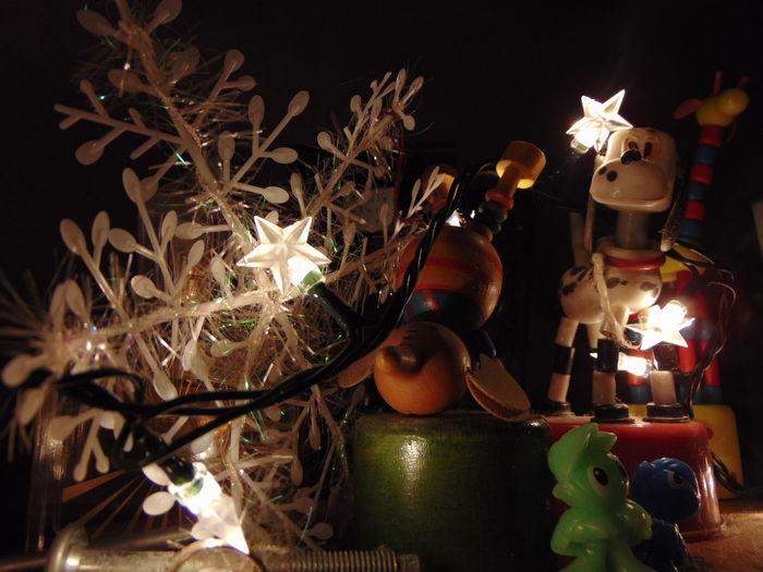 Night Arts Culture And Entertainment Illuminated Christmas Decoration Christmas Lights Christmas Spirit Toys EyEmNewHere Eyemphotography Snowflake Background Stars Light Up Your Life Childhood Memories Childhood Memories