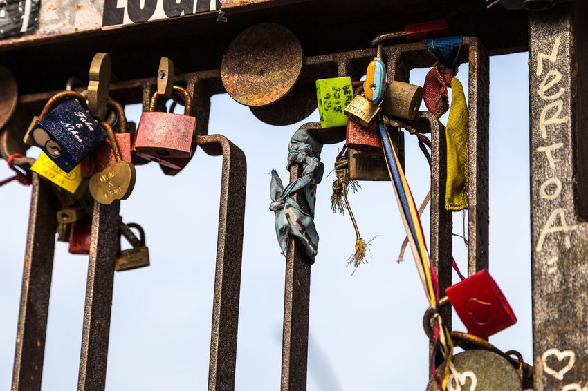 Love Relationship Close-up Day Hanging Hope Key Lock No People Outdoors Sky Symbol Symbol Of Love