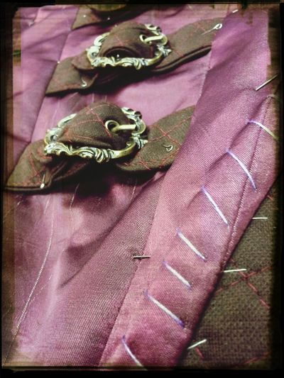 corset in processe. Tornhemstudio Needles and Pins I Love My Job