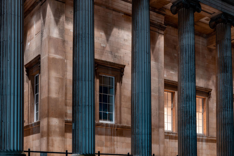 16 December 2018, London. Photographers usually are attracted to the British Museum Architecture - at night Architecture Architectural Column Built Structure The Past Building Exterior History Travel Destinations City Travel British Museum