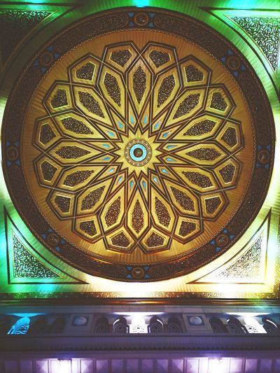 the perfection Islamic Architecture Mosque Architecture Masjid Mosque Masjid Al-Haram المسجد الحرام Colors Pattern Ornate Design Close-up Architecture Architecture And Art Ceiling Carving Skylight Decorative Art Architectural Feature Geometric Shape Architectural Detail Architectural Design Ceiling Light  Hanging Light