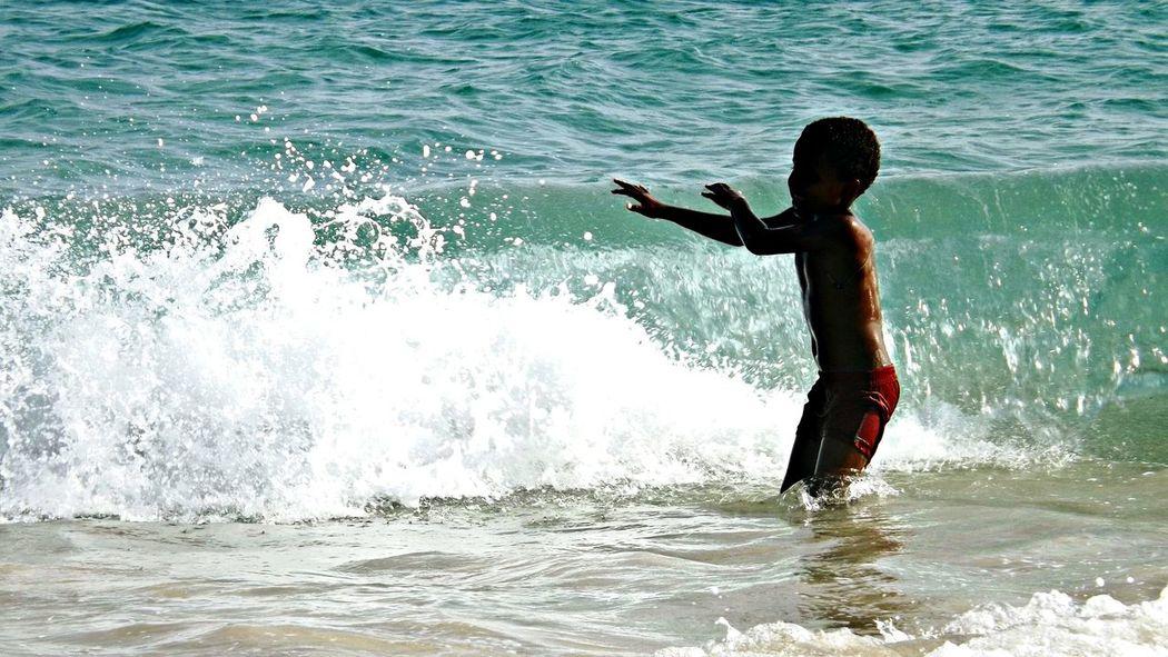 Africa Caboverde EyeEm Children Sea Waves Enjoying Life Taking Photos First Eyeem Photo Poorpeople