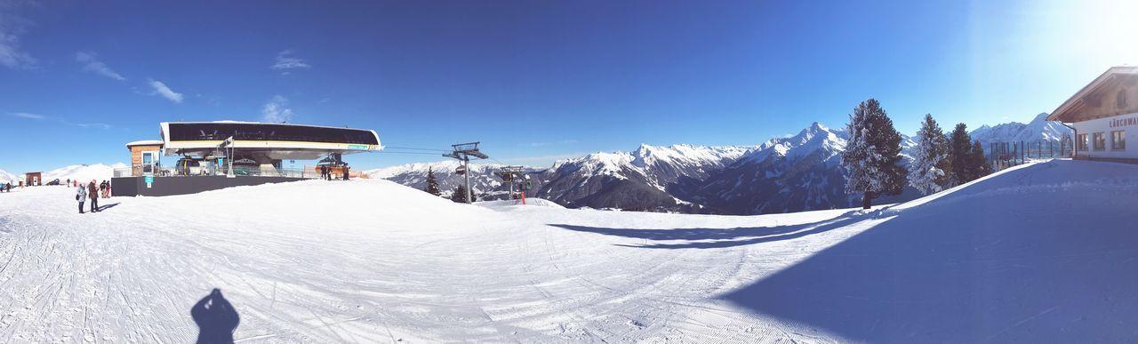 Schneefeld Mayerhofen Kalt Weiss Hoch Oben Panorama Schneelandschaft