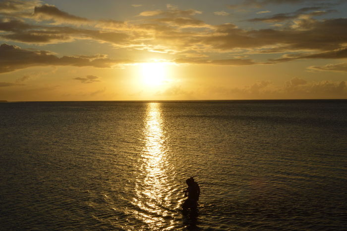 Showing Imperfection. these two guys weren't supposed to be there but it shoes how shallow the water is. Livethelifeyoulove Keepitwild Keepexploring Greettheoutdoors Adventure Pacific Ocean Sunsets Guamsunset
