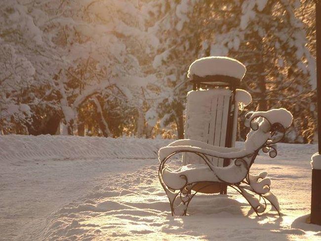 Ootan arvamusi vms. Winter Bench Sunset Snow Park Turi Nofilter