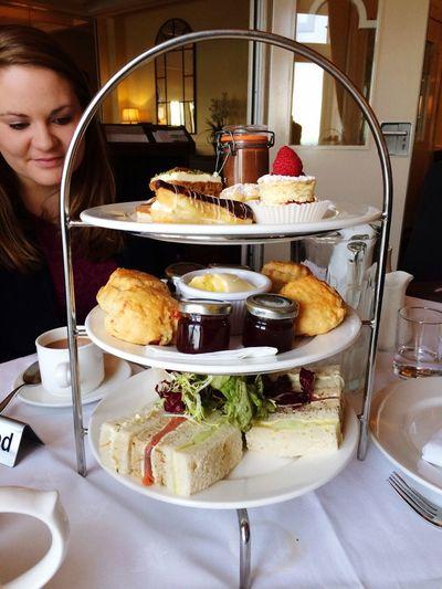 Afternoon well spent ☺️ Afternoon Tea Headland Hotel Parisserie Dessert