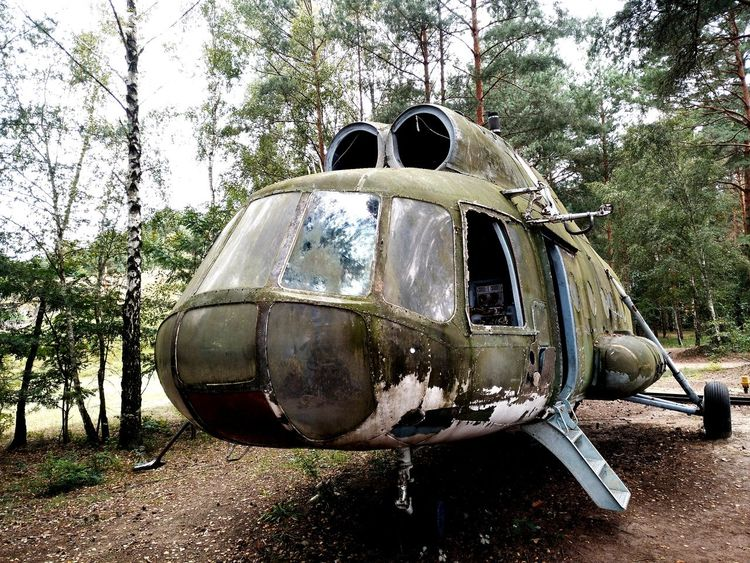 Tree No People Outdoors Helicopter Lostplaces Lost Places