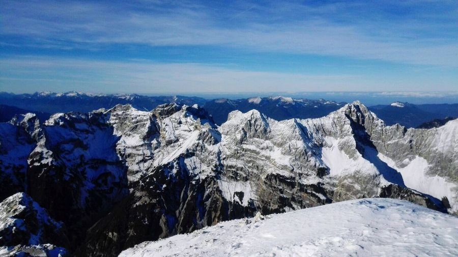 Mountains Snow Winter Cold Temperature Mountain Scenics Tranquility Nature Beauty In Nature Weather Sky Blue Landscape Non-urban Scene Mountain Ridge Outdoors Mittenwald