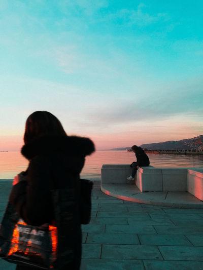 Trieste Trieste Moloaudace Newyearseve Shadow People Sky Sunset Outdoors Water