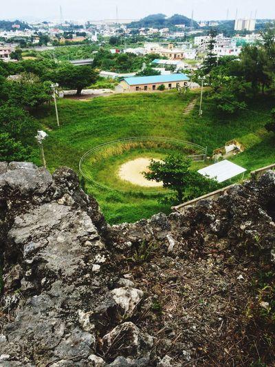 Nature's Diversities bullring Okinawa Agena Bullring OKINAWA, JAPAN Agena Castle Ruins Green