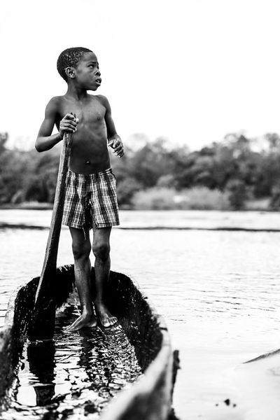 Expedition Scouting in Namibia Kaza Blackandwhite Namibia Africa Bw Water Childhood Full Length Nature Standing Outdoors