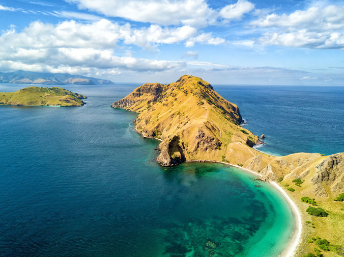 Aerial view of the southern tip of Pulau Padar island in between Komodo and Rinca Islands near Labuan Bajo in Indonesia. DJI X Eyeem DJI Mavic Pro Dragon Flores Island INDONESIA National Park Tourist Travel Travel Photography Aerial Aerial Photography Aerial View Destination Dji East Nusa Tenggara Flores Komodo Labuan Bajo Landscape Padar Pulau Rinca Tourism Tropical Vacation