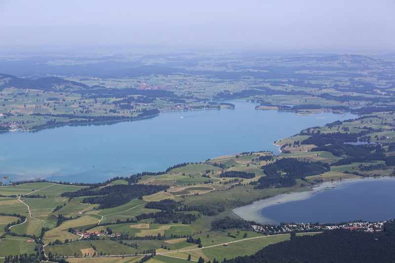 Bavaria Bavarian Landscape Aerial View Architecture Bavarian Alps Beauty In Nature Building Exterior Built Structure City Cityscape Day Forggensee High Angle View Landscape Nature No People Outdoors Patchwork Landscape River Scenics Sky Tree Water