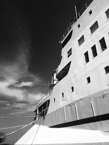 LogosHope Sky Outdoors Building Exterior Low Angle View Architecture Built Structure No People Day Nautical Vessel Nature
