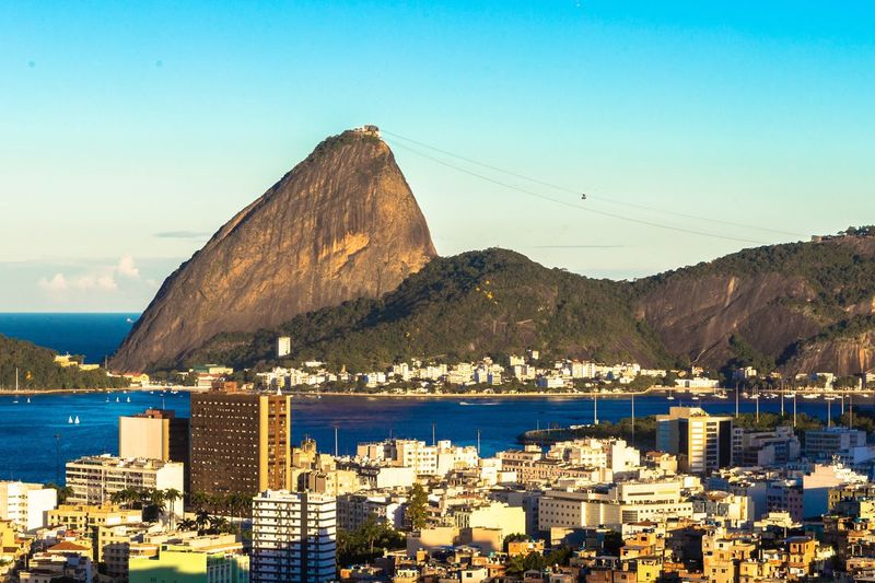 View Of Cityscape And Sugarloaf Mountain Against Sky