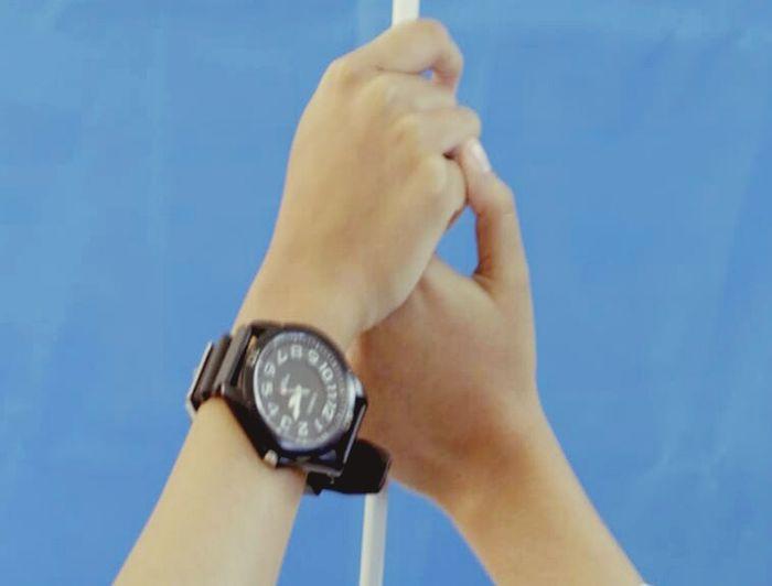 true friends True Friendship ❤ Romantic Two Hand Human Hand Minute Hand Time Clock Face Clock Wristwatch Men Watch Blue Business