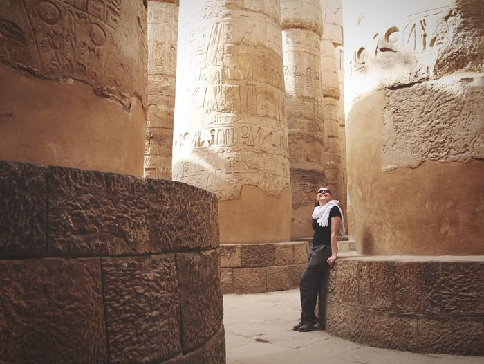 Admiring the past Travel Traveling Travel Photography Egypt Luxor Karnak Temple Adventure The Great Outdoors With Adobe The Great Outdoors – 2016 EyeEm Awards Ancient Eye4photography  Eyem Best Shots My Point Of View Exceptional Photographs Check This Out Architecture Fresh on Market May 2016 EyeEm Best Shots EyeEm EyeEm Best Edits Fresh on Market May 2016 The Photojournalist - 2016 EyeEm Awards Egyptology Point Of View Hello World Original Experiences