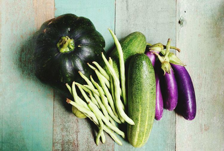 Vegetables Vegetables Aubergine Pumpkin Eggplant Cucumber Princebean Kitchen Natural Light