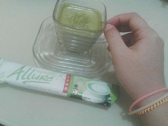 Morning wiff Japanese Green Tea Latte from Allure Esprecielo Relaxing Enjoying Life Greentea Greentealatte Love Likeforlike