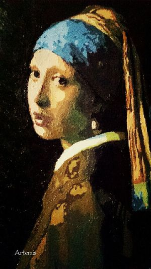 Paint By Number Girl With A Pearl Earring Johannes Jan Vermeer Art 戴珍珠耳環的少女 數字油畫