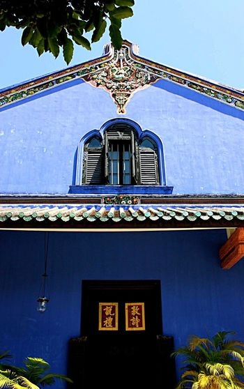 Blue Mansion under the blue sky CheongFattTzeMansion Peranakan Penang Georgetown Penang World Heritage Georgetown Blue Mansion Blue Sky Blue ASIA Traditional Tourist Attraction  Wanderlust Wanderer Loveryday EyeEm Malaysia