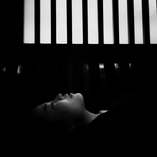 Enjoying Life EyeEm People Black And White Light And Shadow Black & White Lonely Night Woman