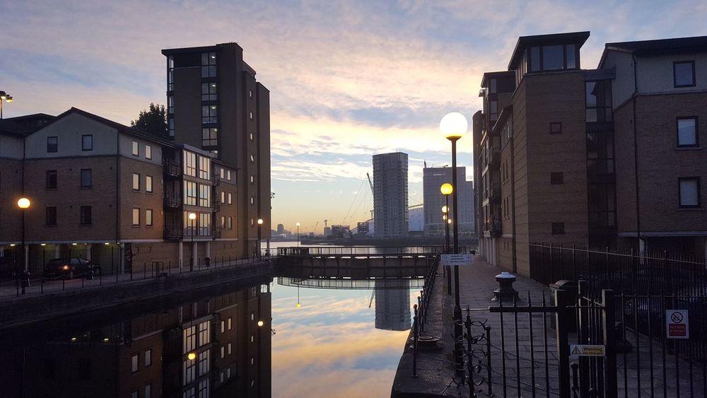 Sunrise in Canary Wharf First Eyeem Photo