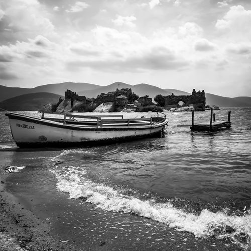 Lake Lakeside LakeviewOutdoors BoatNautical Vessel Whiteandblack Nature Tales Of Mystery Outdoor Photography First Eyeem Photo Herakleia PhonePhotography EyeEmNewHere Let's Go. Together. EyeEm Selects