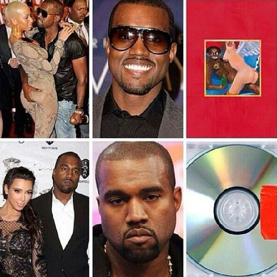 Good point...cuz he lost me with his new album and his performance last night. Kanyewest + AmberRose = MyBeautifulDarkTwistedFantasy > Kanye + KimKardashian KimK = Yeezus
