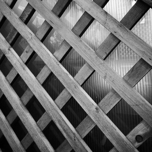 Low angle view of wooden ceiling