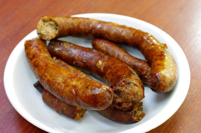 Thai northern food, Thai sausage Cuisine Eating Thai Sausage Cooked Food Night Sausage Thai Food Thai Northern Food
