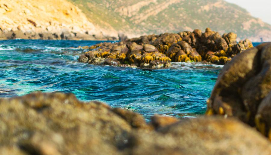 Love blue Wave Blue Water Water Reflections Rock Travel No People Coastal Feature Tunis Tunisia Beach UnderSea Sea Sea Life Beach Blue Rock - Object Sky Close-up Landscape Rocky Coastline Reef Rock Formation