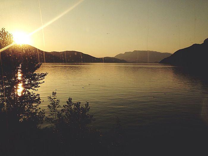 Landscape Bytrain Sunset